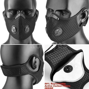 Sport Dust Mask Cycling Running Outdoor Face Mask Training Mask Dustproof Carbon Filtration Workout Running Motorcycle Cycling Mask