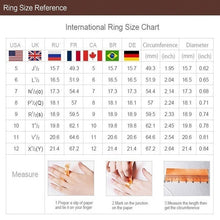 Load image into Gallery viewer, 1Pc Engagement Wedding Zircon Inlaid With Hollow Flower Bride Black Rhinestone 14K Rose Gold Ring Valentines Gift