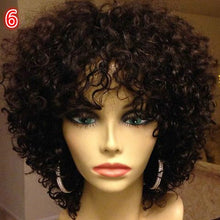 Load image into Gallery viewer, Sexy Afro Kinky Curly Wig Synthetic Hair Curly Glueless Hair Full Wig With Bangs 6 Styles