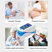 Load image into Gallery viewer, Premium Fingertip Pulse Oximeter Blood Oxygen Monitor with 4 Parameter SPO2 / PR / Respiratory Rate / Perfusion Index