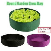 Load image into Gallery viewer, 15/50/100 Gallon Black Plants Growing Bag Raised Plant Bed Garden Flower Planter Elevated Vegetable Box Planting Grow Bag