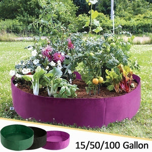 15/50/100 Gallon Black Plants Growing Bag Raised Plant Bed Garden Flower Planter Elevated Vegetable Box Planting Grow Bag