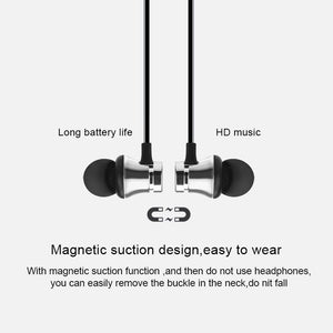 Magnetic Wireless Bluetooth Earphone XT11 Music Headset Phone Neckband Sport Earbuds Earphone with Mic for IPhone Samsung Xiaomi