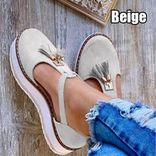 Load image into Gallery viewer, NEW Women Fashion Summer Sandals Casual Platform Shoes Thick Bottom Round Head Tassel Shoes Wedge Sandals  Slippers Plus Size 34-43