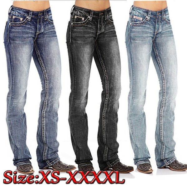 2020 Summer New Fashion Women's Jeans Slim Washed Low Waist Denim Trousers