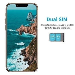 New 6.5 Inch U Screen FHD+ i11 pro Smartphone 8GB+256GB Face Unlock 4G Dual SIM Cards Support T Card Dual Rear 8MP+16MP HD Camera Bluetooth GPS Navigation Hi-fi Sound Quality Smart Phones