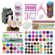 Load image into Gallery viewer, Nails Acrylic Powder 120ml 3D French Tips Rhinestone Nail Cutter Kit Manicure Set