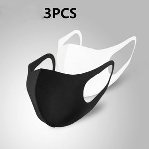 1/3/5/10/30 Pcs Black Mouth Mask Outdoor Fashion Anti-Dust Cotton Unisex Face Mask Respirator Winter Warm Mouth Mask