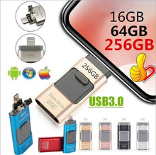 Load image into Gallery viewer, 3in1 USB3.0 Usb Flash Drive for IPhone/iPad/Android/PC I-Flashdrive Pen Drive /Otg Usb Flash Stick for Apple&android &USB