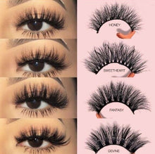 Load image into Gallery viewer, 5 Pairs Multipack 3D Soft Mink Hair False Eyelashes Natural Long Lashes Eye Makeup Tools