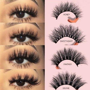 5 Pairs Multipack 3D Soft Mink Hair False Eyelashes Natural Long Lashes Eye Makeup Tools