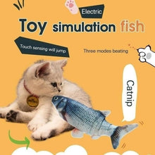 Load image into Gallery viewer, 1Pc Cat Electric Chargeable Wagging Fish Realistic Plush Toy Simulation Catnip Soft Gift For Pet Cat Chewing(Exclued Usb Cable)
