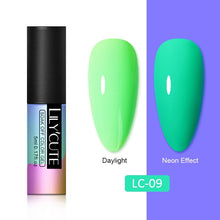 Load image into Gallery viewer, LC 5ml Fluorescent Nail Gel Glow In Dark Neon UV LED Gel Soak Off Gel