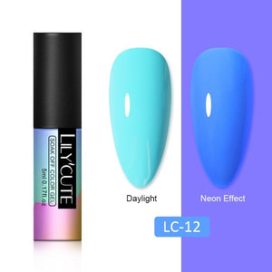 LC 5ml Fluorescent Nail Gel Glow In Dark Neon UV LED Gel Soak Off Gel