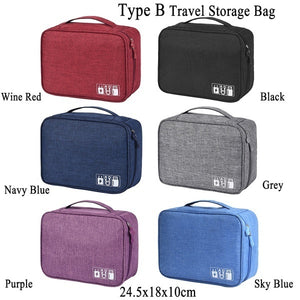 Multi-function Zipper Pouch Waterproof Cation Storage Bags Electronics Gadget Organizer Travel Data Cable Storage Bags