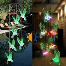 Load image into Gallery viewer, Solar Transparent Stars, Dragonflies, Colorful Hummingbirds, Balls, Sun Wind Chimes Colorful Color Changing LED Lights Garden Garden Home Party Wedding Dinner Decoration Lights