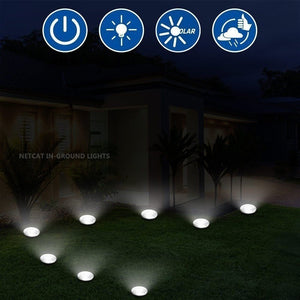 8PCS/4PCS/2PCS 12LED Solar Power Buried Light Under Ground Lamp Outdoor Path Way Garden Decking