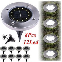 Load image into Gallery viewer, 8PCS/4PCS/2PCS 12LED Solar Power Buried Light Under Ground Lamp Outdoor Path Way Garden Decking
