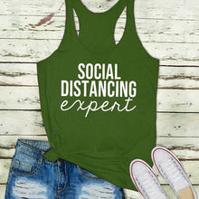 Load image into Gallery viewer, 5 Color Summer Women Fashion Casual Sleeveless Tops Social Distancing Expert Printed Tank Tops Yoga Shirts Plus Size Shirts