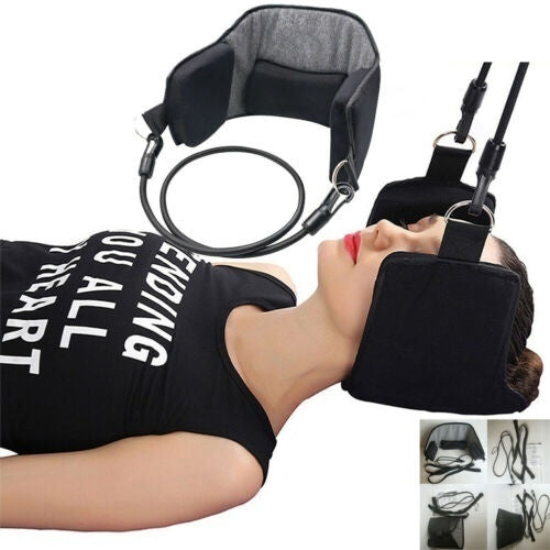 For Neck Pain Relief Support Massager Cervical Traction Device Stretcher New