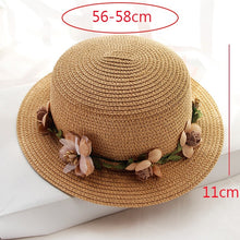 Load image into Gallery viewer, Ladies hat summer outdoor travel beach sun hat foldable color straw hat hiking hat fashion trend student bucket hat accessories