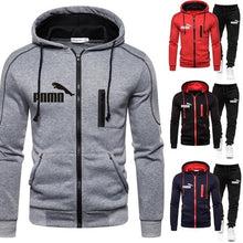 Load image into Gallery viewer, Men Hoodie + Pants Set Pullover Sweatshirt Casual Trousers Tracksuits Zipper Fashion Coat