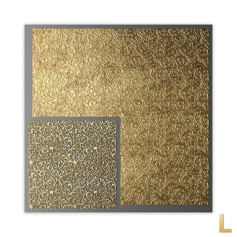 Abstract Modern Square Golden Black Wall Art Texture Square Print Mural Living Room Family Decoration Canvas Picture Painting