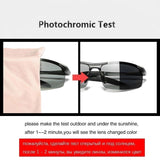 Photochromic Sunglasses Men Polarized Driving Chameleon Glasses Male Change Color Sun Glasses Day Night Vision Driver's Eyewear