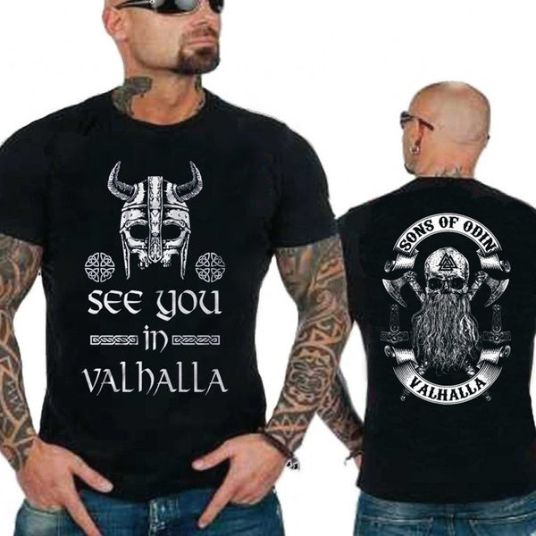 2020 Summer SONS OF ODIN- Vikings Nordish Odin Thor T-Shirt