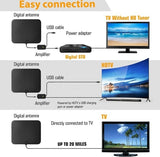 New upgrade TV Aerial Indoor Amplified Digital HDTV Antenna Support HD 4K 1080P DVB-T Freeview TV Broadcast Long Range TV Antenna Booster