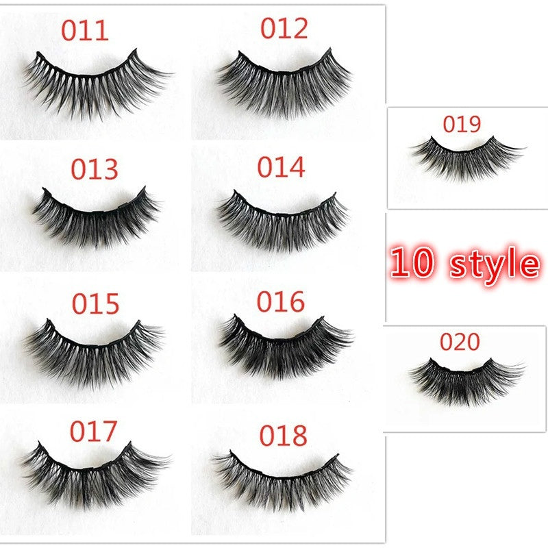 5 pairs/set Magnetic Eyelashs set Magnet Liquid Eyeliner& Magnetic Lashes & Tweezer Set Waterproof Long Lasting Eyelash Extension