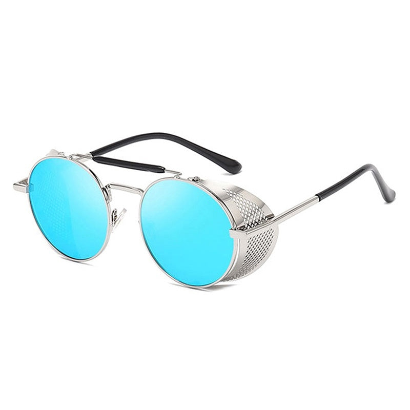 MAXJULI Vintage Steampunk Sunglasses Men Brand Round Glasses Steam Punk Metal Sunglasses For Women UV400 Gafas de Sol 8086