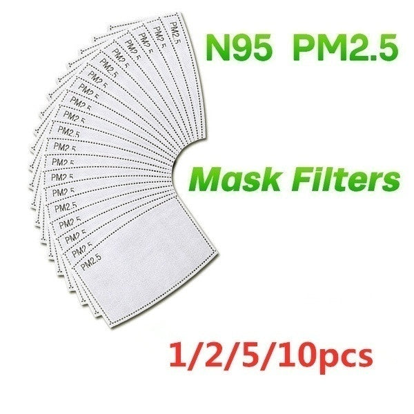 Washable PM2.5 Protective Face Mask Cotton Reusable Anti-dust Face Mask Filter Respirator with Breath Valve  2 Activated Carbon Filter Pads
