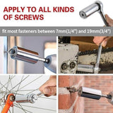 Universal Socket Ratchet Wrench Sleeve Power Drill Adapter Repair Tool Hardware Portable Safety