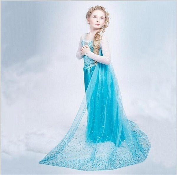 New Hot Baby Kids Girl Children's Rhinestone Party Princess Cloak Dress