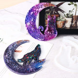 1PC Moon Silicone Mold Resin Moon Wolf Moon Cat Moon Girl Moon Fish Tail Silicone Casting Mould DIY Handmade Art Crystal Glue