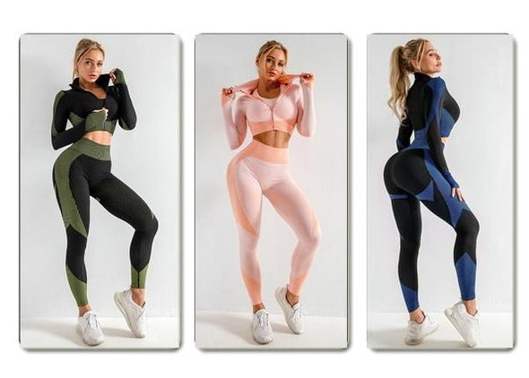 Alexa Anti-Cellulite 2pc Yoga Set - Leggings/Jacket