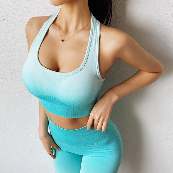 Jazzy Ombre Seamless Yoga Set