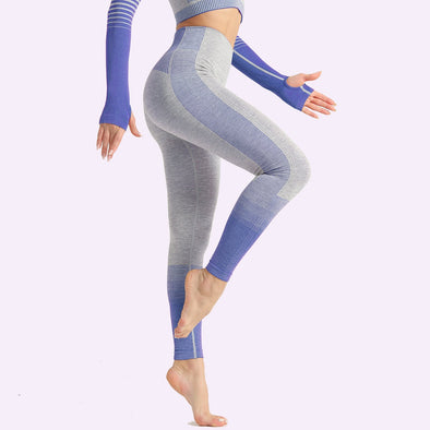 Aria Stipe High Waist Seamless Leggings