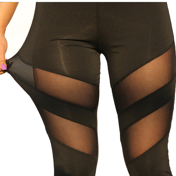 Eliza High Waist+ Mesh Design Leggings