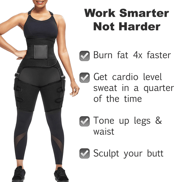 ToneUp Waist & Thigh Trimmer + FREE Weight Loss eBook
