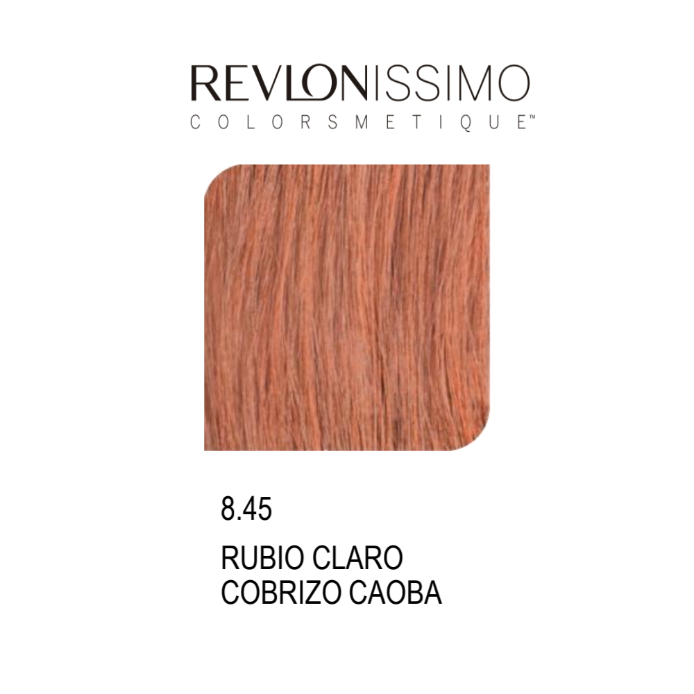 REVLON COLORSMETIQUE CREMA GEL 8.45 RUBIO CLARO COBRIZO CAOBA 60ML.