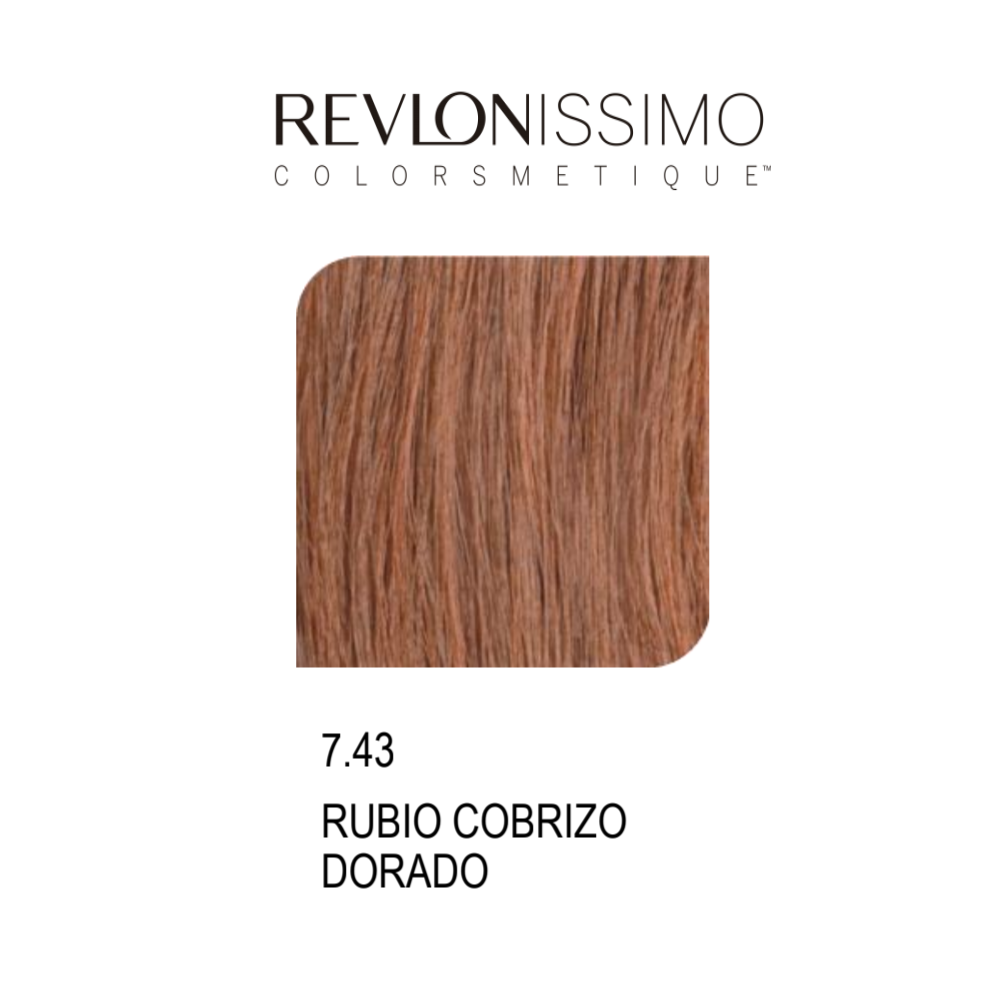REVLON COLORSMETIQUE CREMA GEL  7.43 RUBIO COBRIZO DORADO 60ML.