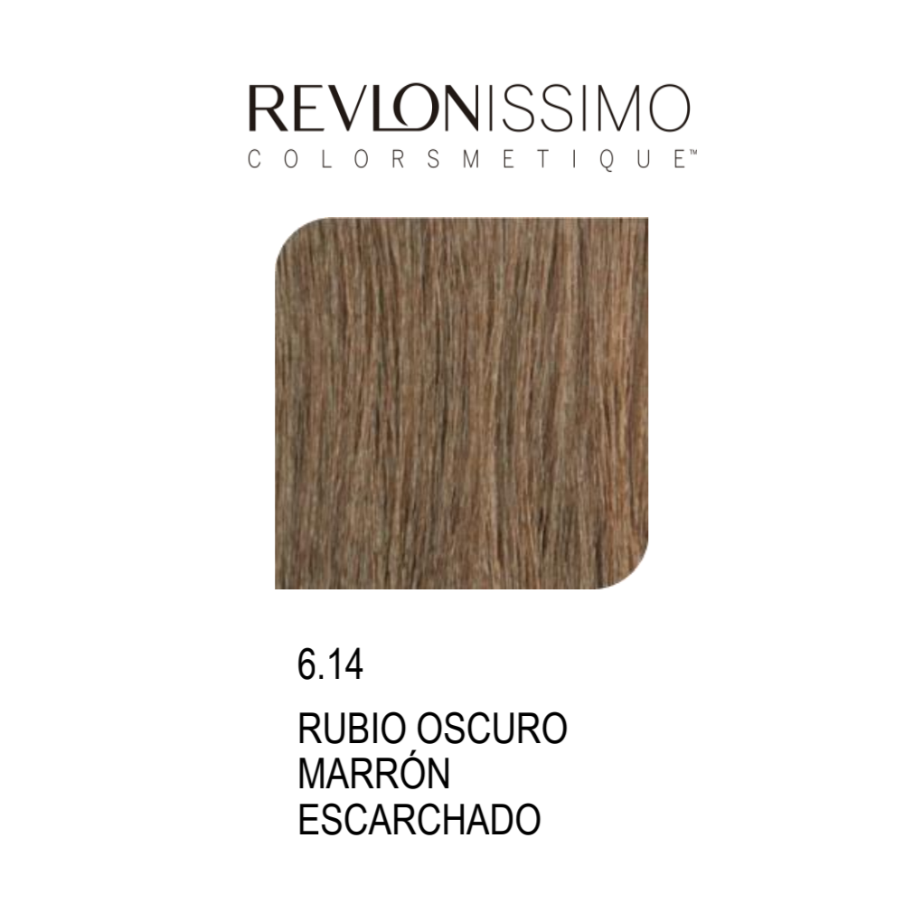 REVLON COLORSMETIQUE CREMA GEL 6.14 RUBIO OSCURO MARRON ESCARCHADO 60ML.