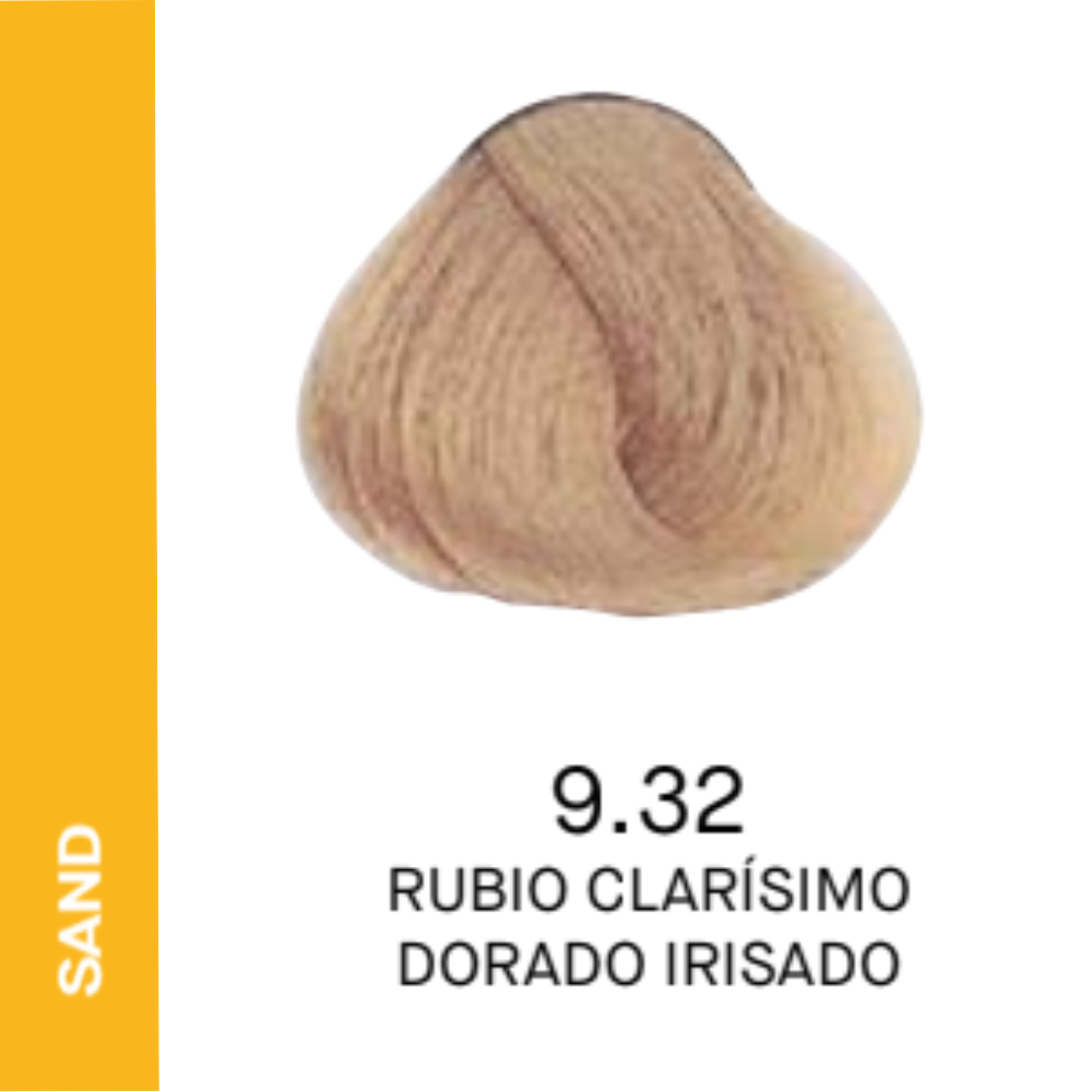 YELLOW COLOR 9.32 RUBIO CLARISIMO DORADO IRISADO 60ML