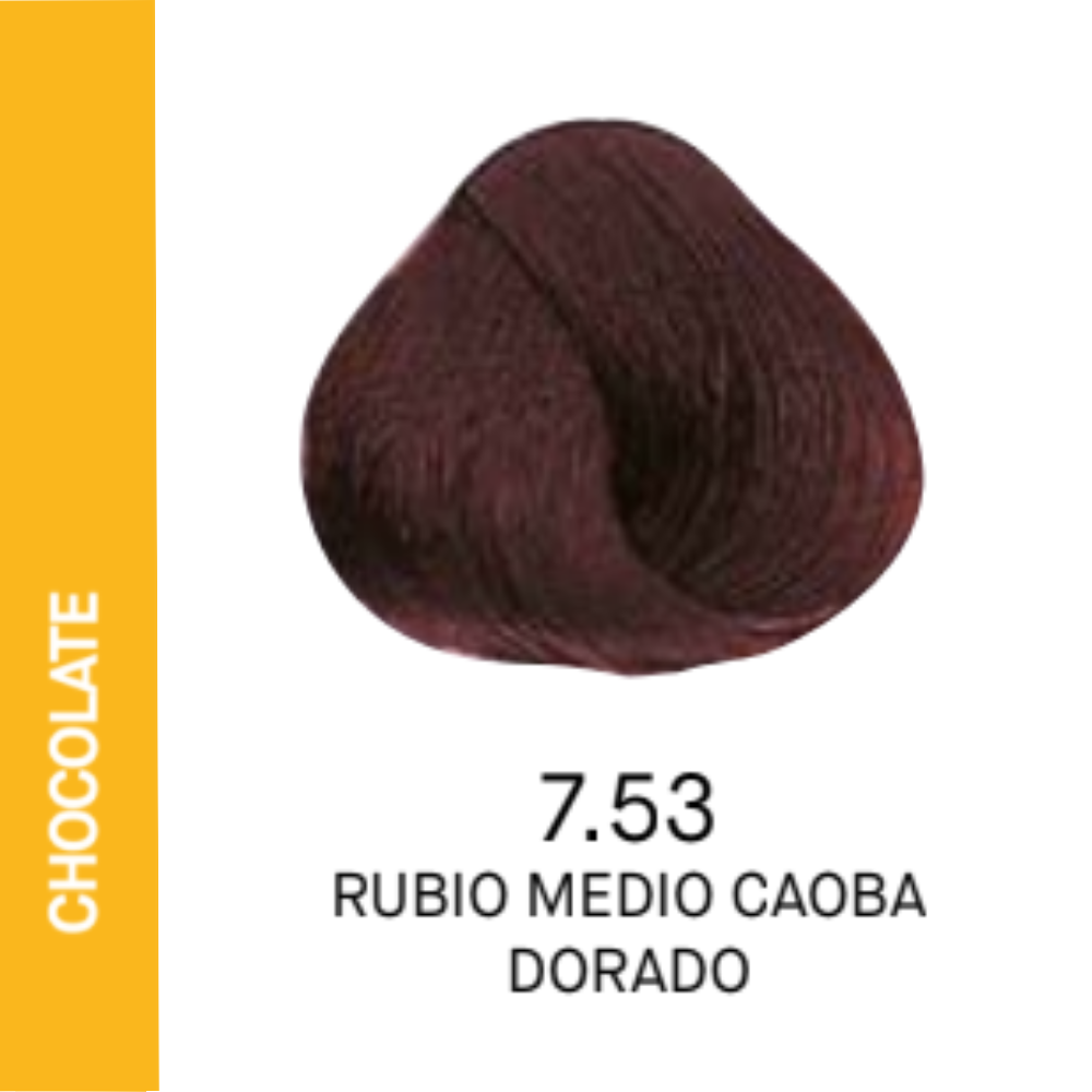 YELLOW COLOR 7.53 RUBIO MEDIO CAOBA DORADO 60ML