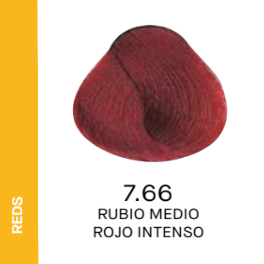 YELLOW COLOR 7.66 RUBIO MEDIO ROJO INTENSO 60ML