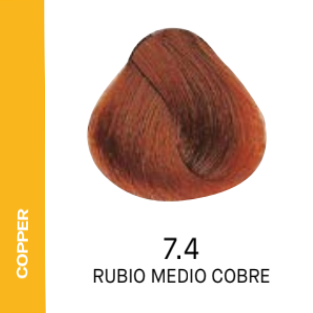 YELLOW COLOR 7.4 RUBIO MEDIO COBRE 60ML