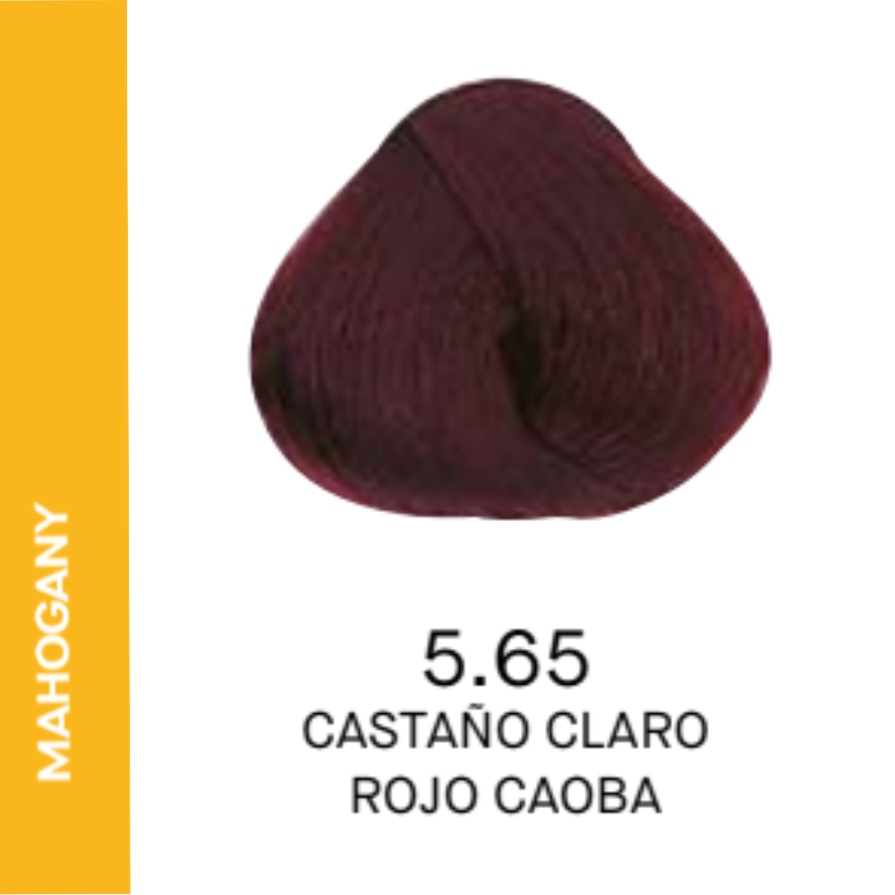 YELLOW COLOR 5.65 CASTAÑO CLARO ROJIZO CAOBA 60ML