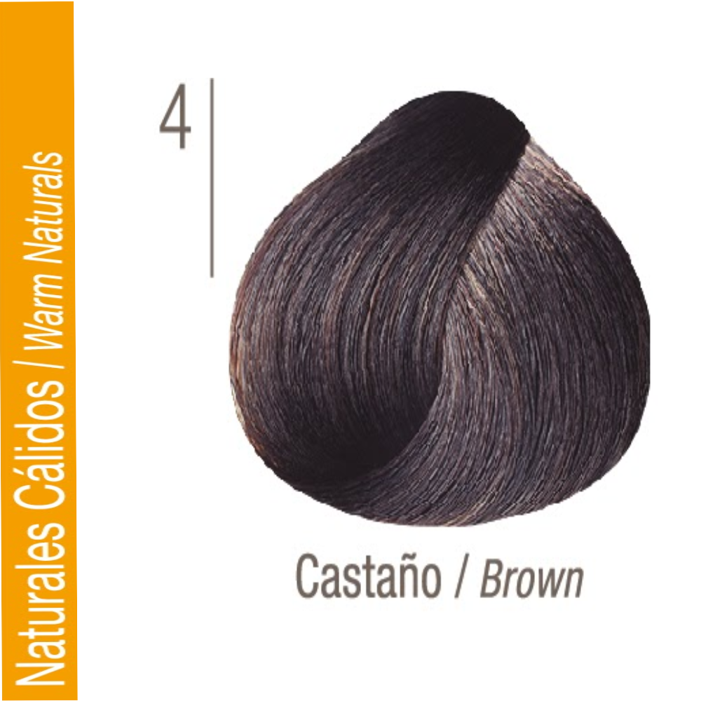 ISSUE TINTURA PROFESSIONAL COLOR Nº 4 Naturales Cálidos Castaño 70 GR